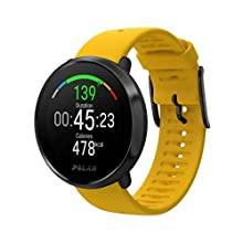 POLAR Unisex's Ignite Fitness Watch with Advanced Wrist-Based Optical Heart Rate Monitor, Training Guide, GPS, Waterproof, Yellow, M/L