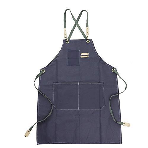 Arbeitsschürze aus Segeltuch mit verstellbaren Riemen für Friseur, Küche, Garten, Cafeshop -