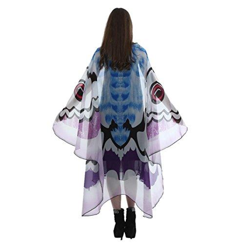 �m Kind Mädchen Lange Schmetterling Wing Sonnena Cape Soft Schal Schals Wrap Schal Nymphe Kostüm Drucken / Pashmina / Chiffon / 185 * 145cm (185*145CM, Sexy Lila) (Isis Kostüm Mädchen)