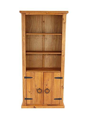 CORE Products Zwei Türen Bücherregal, rustikale Honig Effekt (Bücherregal Honig)