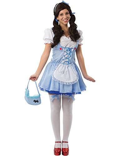 Kleid Kostüme Dorothy Schürze (Meine Damen Sexy Dorothy Partei Märchenbuch Woche Verkleidung Kostüm)