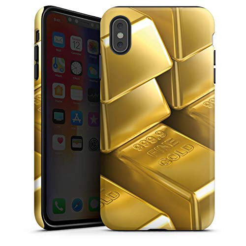 DeinDesign Apple iPhone XS Max Hülle Tough Case Schutzhülle Goldbarren Gold Barren