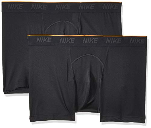 Nike Herren M NK Brief Trunk 2PK Boxer, Black, L