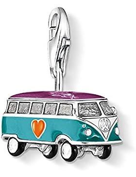 THOMAS SABO Damen Charm-Anhänger 0881-007-7 Charm VW-Bus 925er Sterlingsilber, Cremefarben, Gelb, Orange, Schwarz...