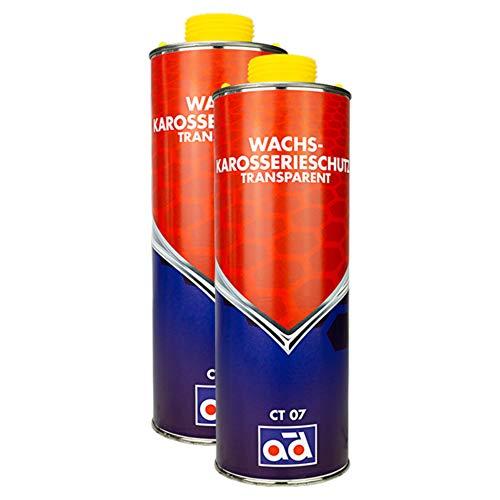 AD Chemie 2X Wachs-Karosserie-Schutz Ct07 500ml Transparent Unterboden Rostschutz Wachs Schutzwachs Auto Unterbodenwachs Korrosionsschutz Spray 409190450