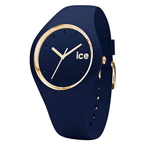 Ice-Watch - Ice Glam Forest Twilitght - Blaue Damenuhr mit Silikonarmband - 001059 (Medium)