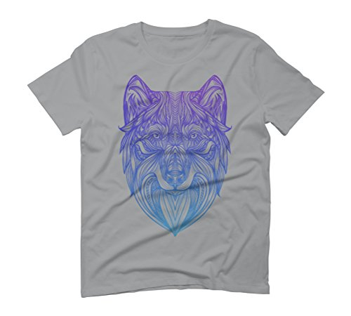 Wolf Men's Graphic T-Shirt - Design By Humans Opal