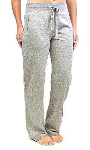 Tom Franks Pantalon de Jogging Yoga Gym Femme (Manchettes Standard) Gris
