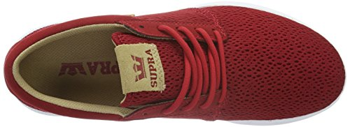 Supra Hammer Run, Baskets Basses Homme Rouge (Red/Tan White)