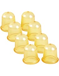 8 Schröpfglocken aus Gummi für Vakuum Massage