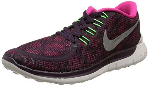Nike Wmns Free 5.0 Print, Scarpe Sportive, Donna, Viola (NBL Prpl/Smmt Wht-Pnk FL-Vltg), 38.5
