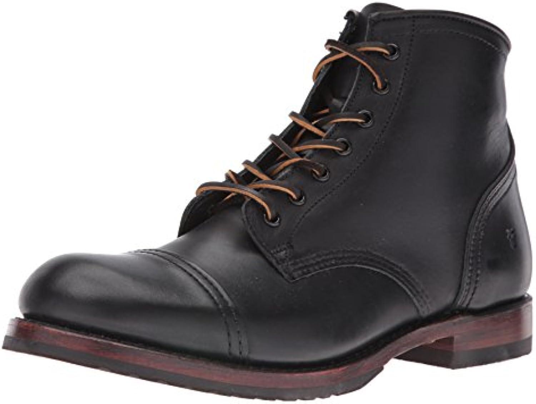 Bota de combate Logan Cap Toe para hombres, 87916-Black, 13 D US