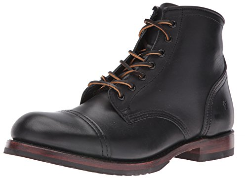 FRYE Men's Logan Cap Toe Combat Boot, 87916-Black, 13 D US (Frye Leder-boots)