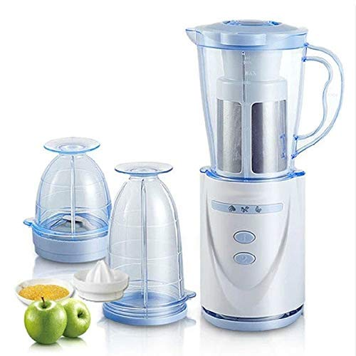 BMS Lifestyle Nutri-Blender 400 W Plastic Juicer Mixer Grinder with Pulp Extractor and Includes Citrus Juicer Attachment (White)