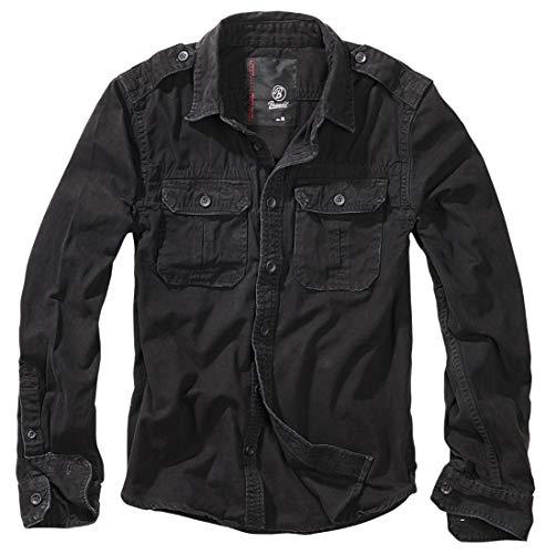 Brandit Vintage Shirt Longsleeve Schwarz 6XL -