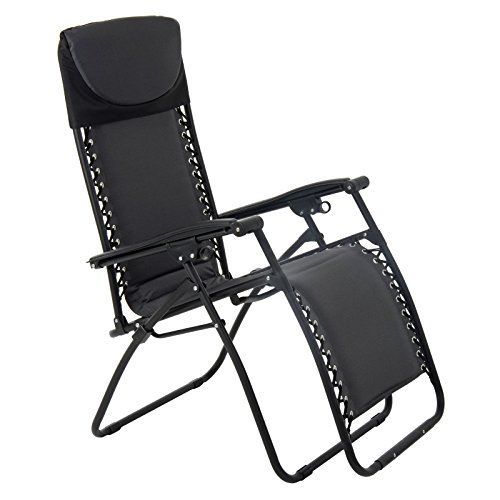 Azuma Padded Zero Gravity Chair - Charcoal