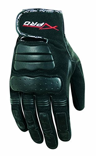 a-pro-textile-leather-scooter-lined-motorcycle-motorbike-short-sport-gloves-black-s