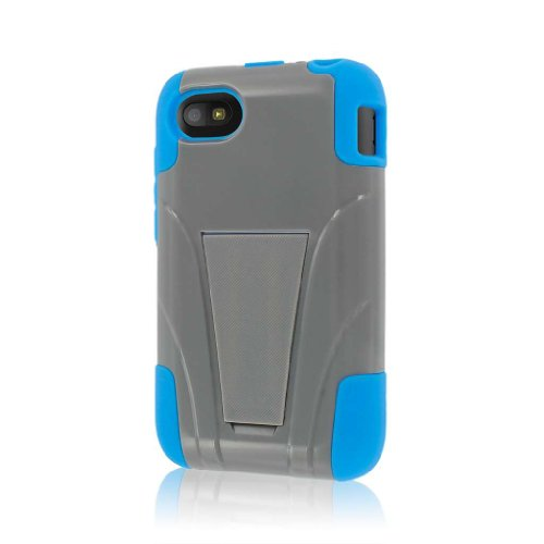 MPERO Impact X Series Kickstand Case Tasche Hülle for BlackBerry Q5 - Blau/Grau