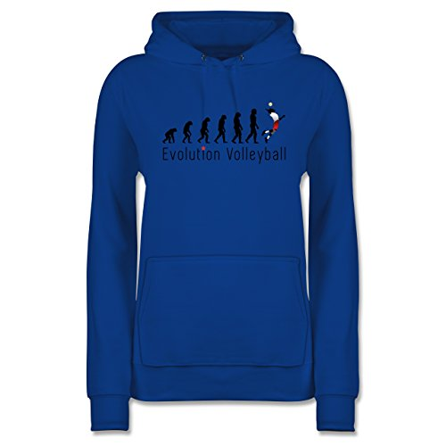 Shirtracer Evolution - Volleyball Evolution - M - Royalblau - JH001F - Damen Hoodie