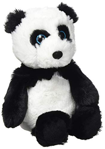 Ty 65026Fluff, Panda 20cm Attic Treasures, Negro, Color Blanco