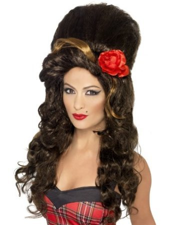Robingift Smiffys Rehab Perücke Damen Große - Amy Winehouse Fancy Dress Kostüm