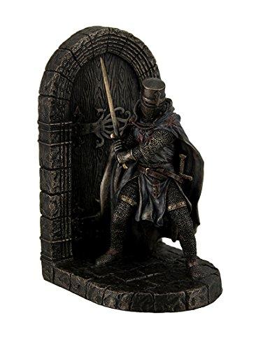 Malteser Crusader in Armor bewacht Tür halten Sword Dekorative Buchstütze -