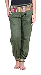Soundarya Womens Cotton Pant (Green, 39)