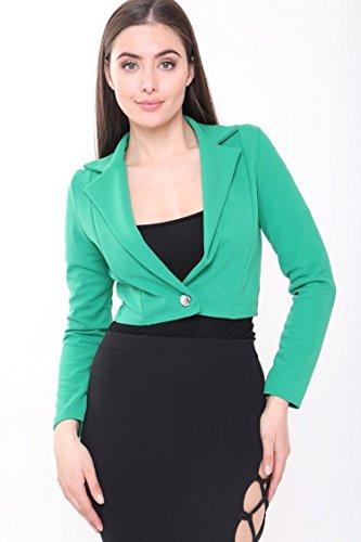 Momo&Ayat Fashions - Giacca da abito - Blazer - Maniche lunghe  -  donna Green