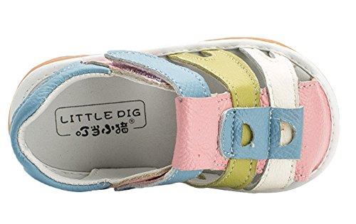 La Vogue-Primi Passi Scarpe Bimbi Sandali Punta Chiusa Bambini Estate Rosa