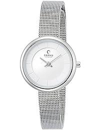 Obaku Harmony - Reloj analógico de cuarzo para mujer con correa de piel, color negro