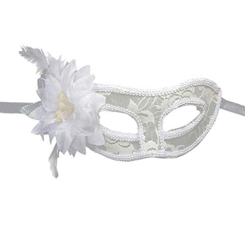 WUDUBE Masque en Dentelle Bandeau Serre-tête Mascarade Halloween Noël déguisement Femme Fille