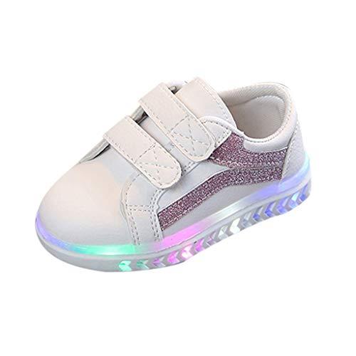 Masoness  Kinder scherzen Baby-Jungen gestreifte Bling Flache geführte leuchtende Sport-Turnschuh-Schuhe,Beleuchtung LED leuchtende weiche untere Schuhe leichte Schuhe strahlende Schuhe -
