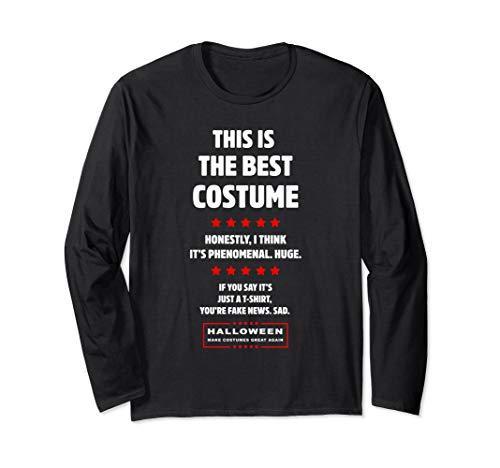 Donald Trump Easy DIY Halloween-Kostüm Politisches Geschenk Langarmshirt (Politische Halloween Kostüm)