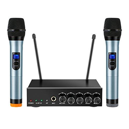ELEGIANT Radio microfono UHF Sistema di microfono senza fili Bluetooth con  1 df78b20109b0