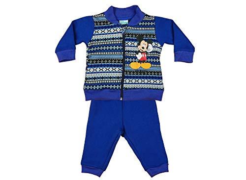 Kleines Kleid Disney Mickey Mouse Baby-Freizeitanzug Jogginganzug 2Teiler Set gefüttert Jungen Hose WARM für Herbst, Winter in 74 80 86 92 98 104 110 Kleinkind Sweatanzug Trainingsanzug Größe 74