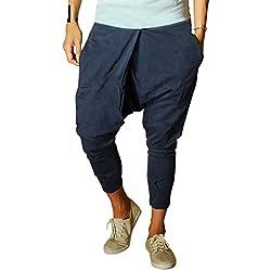 Hombres Harem Pantalones Pantalón Pantalones de Deportes Fitness Suelto Entrepierna Pantalones Armada M