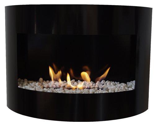 etanol chimenea Riviera Deluxe chimenea de pared en acero + quemador 1...