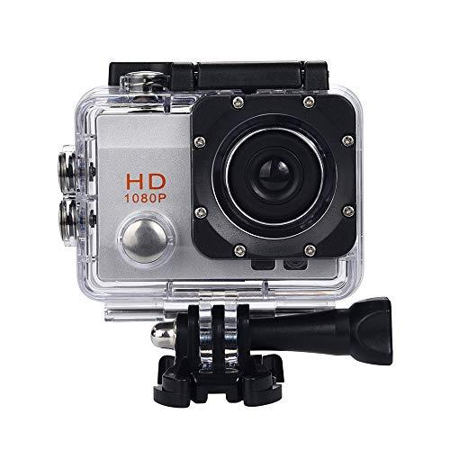 Gaddrt Sport Kamera Digitalkamera Wasserdichte Kamera HD 1080P Sport Action Kamera DVR Cam DV Video Camcorder (Silber)