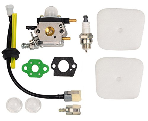 OxoxO C1U-K54A Carburetor with Air Filter Gasket Fuel Repower Kit Spark Plug Primer Bulbs for Echo 2 Cycle Mantis 7222 7222E 7222M 7225 7230 7234 7240 7920 7924 Tiller/Cultivator -