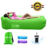 Inflatable Lounger,Waterproof Air lounger with Headrest, Leak-proof & Portable Air Sofa Couch, Fast Inflating Air Bed, Ideal Lazy Lounger for Backyard/Pool/Beach/Camping -Hold Up To 500lbs(Green)