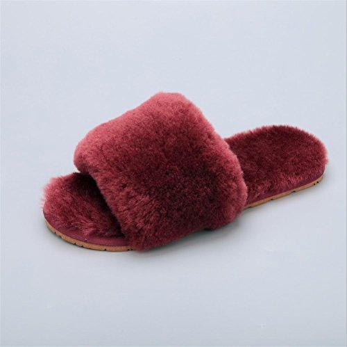 Mhgao da donna casual Slipper indoor casa per autunno/inverno pelliccia pantofole 7