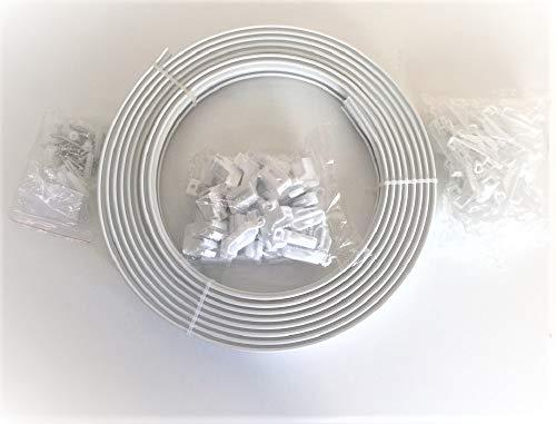 Remi Tools Ltd Riel deslizador de plástico para cortinas rectas y con ventanas de bahía (6 metros)