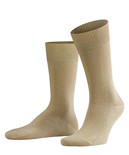 FALKE Herren Swing Two Pack Baumwiolle Strümpfe Einfarbig 2 Paar Business Socken, Blickdicht, Sand, 39-42 (erPack 2 -