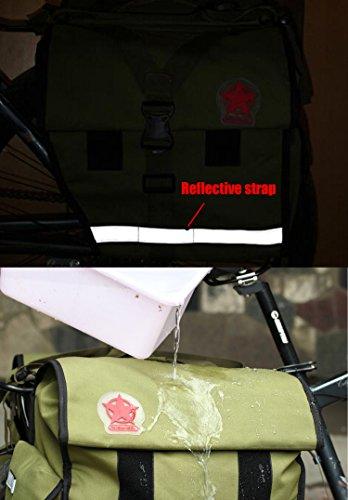 DCCN Fahrrad Rahmentasche Oberrohrtasche Fahrrad Satteltasche Lenker-Tasche fuer Mountainbike 45L Grün