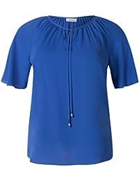 C&A Damen Chiffonbluse Große Größen XXL Übergröße royal blau cobalt