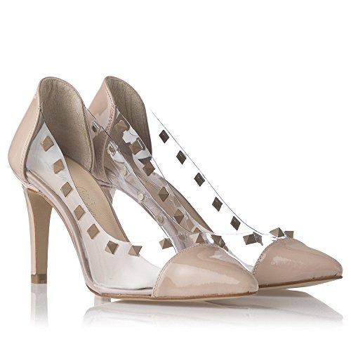 Laura Moretti - Stilettos, Scarpe eleganti Donna Beige-Transparent