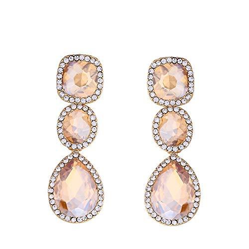 Fashion Party Kristall Diamant Ohrringe, elegante Braut Hochzeit lange Ohrringe Gold - Winzige Gold-charme-halskette