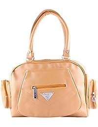 Vishesh Collections Beige Handbag VISH001