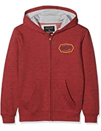 Quiksilver Living On The Edge Sudadera, Niños, Rojo (Garnet Heather RQKH),