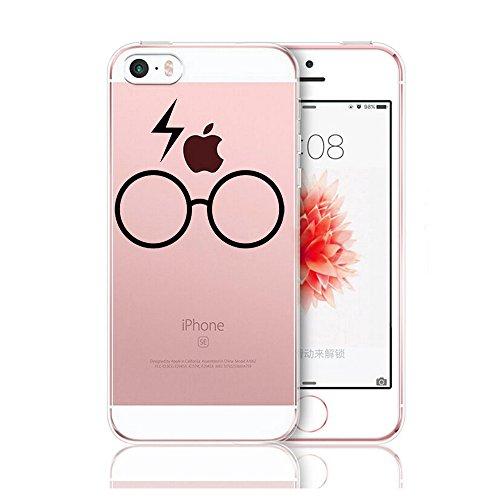Coque iPhone 5/5S/SE,Vanki® Simple motif noir et blanc Housse Transparente , Housse TPU Souple Etui de Protection Silicone Case Soft Gel Cover Anti Rayure Anti Choc pour Iphone5/5S/SE (4)